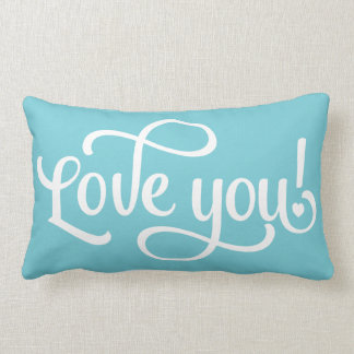 Turquesa azul y almohada blanca - boda del amor