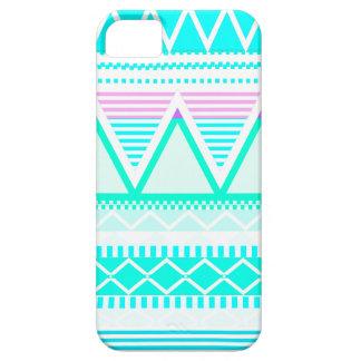 Turquesa brillante tribal iPhone 5 cárcasas