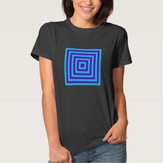 """Turquesa de """"Geometrics"""" y camiseta púrpura"""