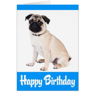 Turquesa del azul del perro de perrito del barro tarjeta de felicitación