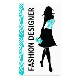 Turquesa del chica del diseñador de moda, tarjeta de negocio