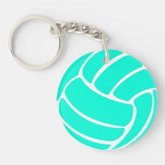 Turquesa del llavero w/Name del voleibol