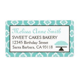 Turquesa dulce de la etiqueta de envío del negocio