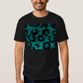 Turquesa manchada del trullo del leopardo camiseta