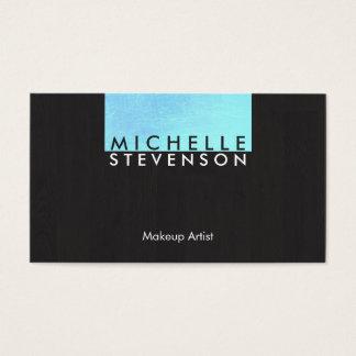 Turquesa moderna y elegante del artista de tarjeta de negocios