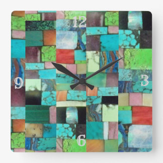 Turquesa multicolora del reloj de la mirada del