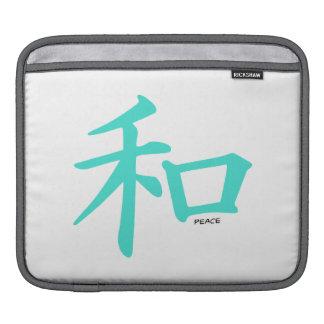 Turquesa, signo de la paz chino azulverde manga de iPad