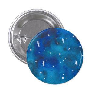 Turquesa y botón de Pinback de la galaxia del azul