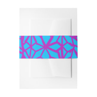 Turquesa y geométrico púrpura cintas para invitaciones