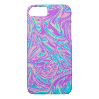 Turquesa y giro líquido púrpura funda iPhone 7