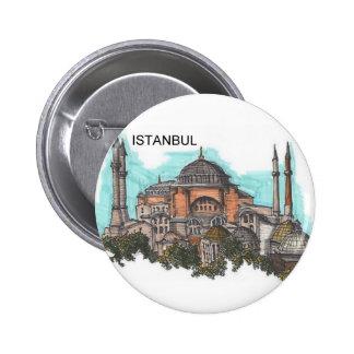 Turquía Estambul Hagia Sophia (por St.K) Chapa Redonda De 5 Cm