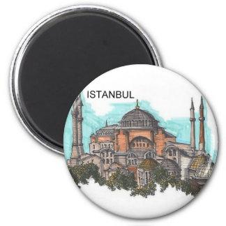 Turquía Estambul Hagia Sophia (por St.K) Imán Redondo 5 Cm
