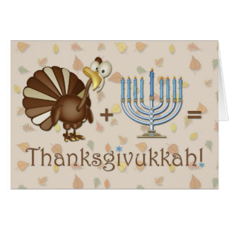 Turquía, Menorah, saludo chistoso de Thanksgivukka Tarjeta