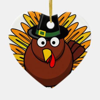 Turquía para el Día de Acción de Gracias Ornamento De Navidad