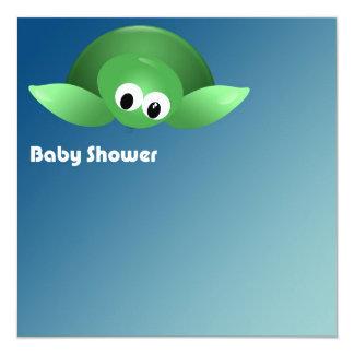 Turtle Baby shower Invitación 13,3 Cm X 13,3cm