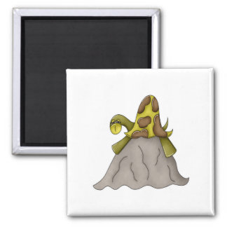 Turtle on a Rock Magnet