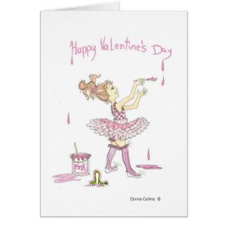 Tutú de la tarjeta del día de San Valentín