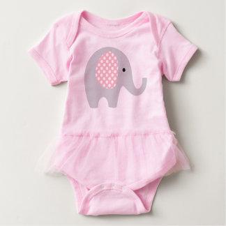 Tutú de una sola pieza con el elefante adorable body para bebé