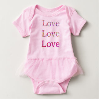 Tutú del amor del amor del amor body para bebé