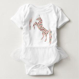 Tutú del unicornio body para bebé