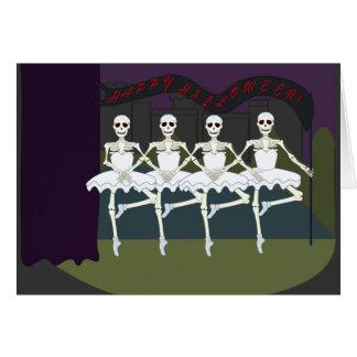Tutú divertido Halloween de la bailarina de los Tarjetas