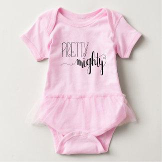 Tutú poderoso bonito del bebé body para bebé