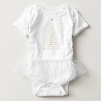 Tutú todo del árbol de navidad en uno body para bebé