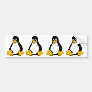 tux el pingüino del logotipo del linux pegatina para coche
