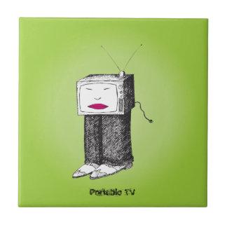 TV portátil Azulejo Cuadrado Pequeño
