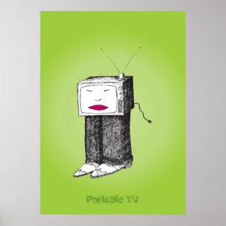 TV portátil Póster