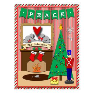 Twas la noche antes del navidad • 2 medias postal