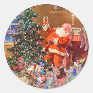 'Twas la noche antes del navidad Pegatinas Redondas