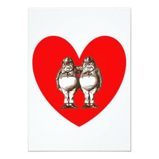 Tweedle el amor invitación 12,7 x 17,8 cm