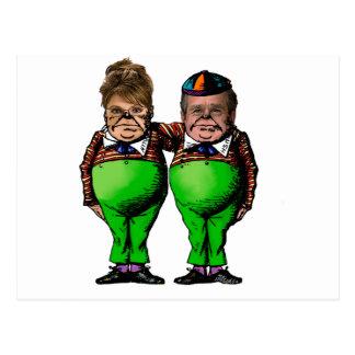 Tweedles Palin y Bush Postal