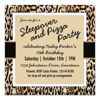 Tween de moda del estampado de animales/fiesta de invitación 13,3 cm x 13,3cm