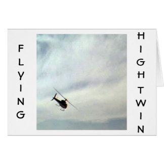 TWIN-FLYING ALTO EN SU CUMPLEAÑOS TARJETA DE FELICITACIÓN