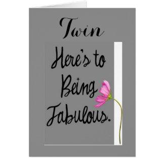 TWIN-HERE A SER FABULOSOS (DESEOS DEL CUMPLEAÑOS) TARJETA