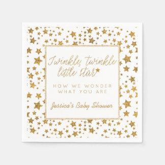 Twink, centelleo poca fiesta de bienvenida al bebé servilletas de papel