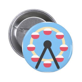 Twitter Emoji - Ferris Wheel Chapa Redonda 5 Cm