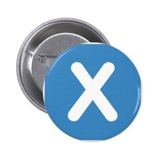 Twitter emoji - Letter X Chapa Redonda 5 Cm