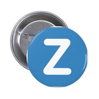 Twitter Emoji - Letter Z Chapa Redonda 5 Cm