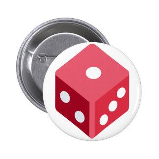 Twitter emoji - Red dice Chapa Redonda 5 Cm