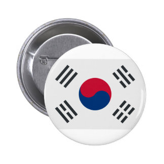 Twitter emoji - South Korea Flag Chapa Redonda De 5 Cm