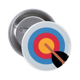 Twitter Emoticon - target archery Chapa Redonda 5 Cm
