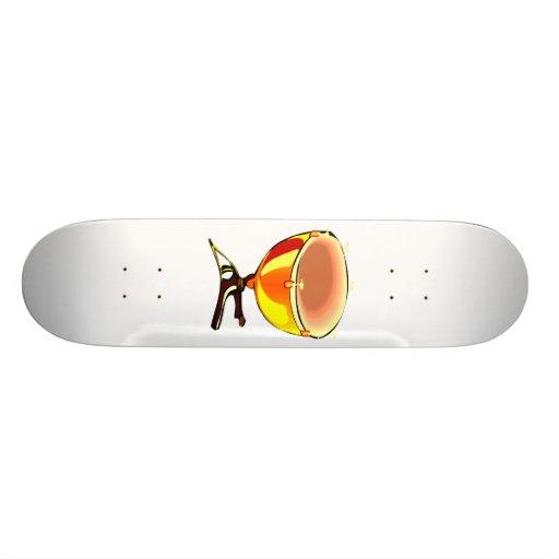 Tympani con imagen del gráfico de los sintonizador patines