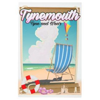 Tynemouth Tyne y desgaste, poster del viaje