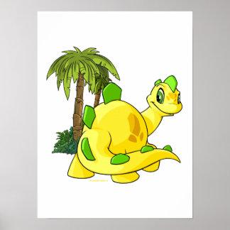 Tyrannian Chomby amarillo que mira Póster