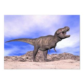 Tyrannosaurus que ruge - 3D rinden Invitación 12,7 X 17,8 Cm