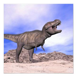 Tyrannosaurus que ruge - 3D rinden Invitación 13,3 Cm X 13,3cm
