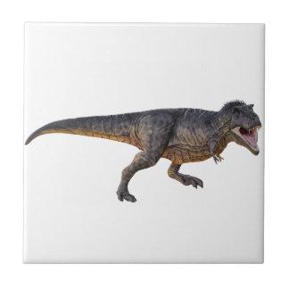 Tyrannosaurus-Rex con el colorante amarillo Azulejo Cuadrado Pequeño